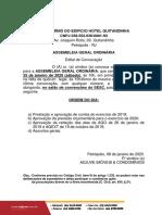 Hotel Quitandinha - Edital AGO 25-01-2020