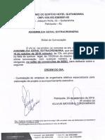 Hotel Quitandinha - Edital AGO 19-10-2019