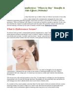 Hydressence Serum, Benfits & Scam