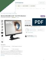 BenQ GW2480 23.8_ 16_9 IPS Monitor GW2480 B&H Photo