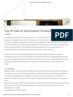 Top 10 Jobs in Information Technology _ Experience