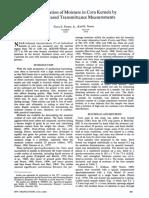 Determination of Moisture in corn kernels - Finney - 1978