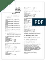 Cisplatin for Injection BP 10mg 20mg 50mg 100mg 200mg Taj Pharma SMPC