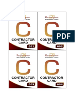 Contractor Card 11X8 CM