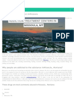 Addiction Treatment Centers in Missoula