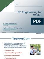TechnoCom WiMAX Planning Support