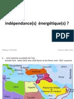 Indépendances Energétiques- juillet 2016