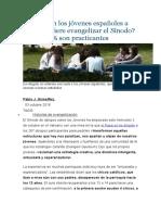 Cómo son los jóvenes españoles a los que quiere evangelizar el Sínodo 2018