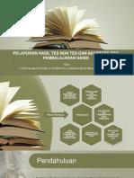 Kelompok 13_Pelaporan Hasil Tes Non Tes Dan Akuntabilitas Pembelajaran Sains.pptx