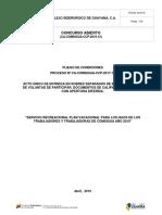 PLIEGO DE CONDICIONES Plan Vacacional  2019_0