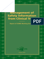 ebook Management of Safety Information from Clinical Trials Report of CIOMS Working Group VI