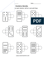 domino numbers preschool activities 10