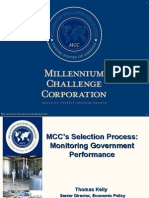MCC Selection Process Monitoring Government Performance