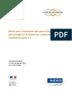 Notice pour importation des zones d'implantation des ouvrages du 06-01-2015