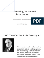 Infant Mortality, Racism and Social Justice