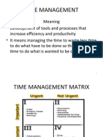 Time Mgmnt & Change Mngmt