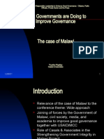 What Governments Are Doing to Improve Governance, The Case of Malawi