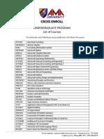 Undergraduate-Program-Cross-Enroll-Courses-AMAU-OEd