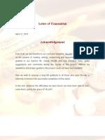 TFM Report Sample