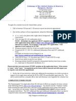 Student Visa Handout for DS-160, 3-3-10