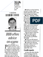 BBB Offers Advice on scams