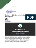 Flutter — IDE Shortcuts for Faster Development