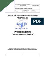 P-T-OP-MTQ-LM-021 Muestreo de Catodos