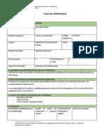 Guía de aprendizaje 1A (Elementos del Costo) 2018