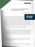 Contribuciones para una epistemología de la EF