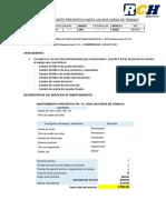 PLAN DE MANTENIMIENTO - TRACTOR D6C