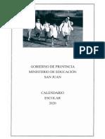 Calendario Escolar 2020 - Ministerio de Educación de San Juan.pdf