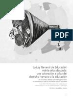 La Ley General de Educación veinte años después una valoración a la luz del derecho humano a la educación