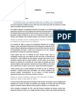 TEORIAS DE LA CREACIÓN DE ISTMO DE PANAMÁ