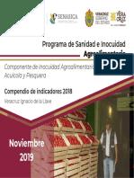 Compendio Indicadores 2018 Inocuidad