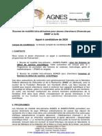 Bourse de mobilité Intra Afrique AGNES_ Appel_à_candidatures_2020_Français