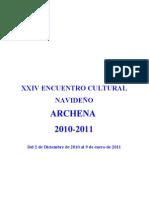 XXIV ENCUENTRO CULTURAL      NAVIDEÑO  2010