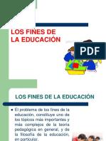 LOS FINES DE LA EDUCACION - PEDAGOGIA GENERAL - copia.ppt