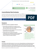 Central Retinal Vein Occlusion - The American Society of Retina Specialists