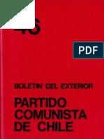 Boletín del Exterior Partido Comunista de Chile Nº46