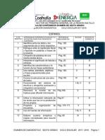Tabla de Especificaciones Ex. Dx. 2017-2018 Sexto Grado