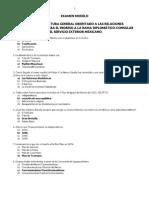 EXAMEN DE CULTURA GENERAL ORIENTADO A LAS RELACIONES INTERNACIONALES PARA EL INGRESO A LA RAMA DIPLOMÁTICO-CONSULAR DEL SERVICIO EXTERIOR MEXICANO