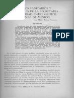 Trabajos sanitarios de la Secretaría de Salubridad entre grupos indígenas de México / Galeano. María Laura