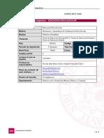 Guía docente de la asignatura EDUCACIÓN FÍSICA ESCOLAR