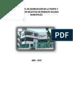 PLAN ANUAL DE SEGREGACIÓN EN LA FUENTE Y RECOLECCIÓN SELECTIVA DE RESIDUOS SÓLIDOS MUNICIPALES V1.docx