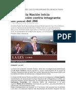 JUEZ HUGO NÚÑEZ JULCA PROGRAMÓ DILIGENCIA PARA MAÑANA