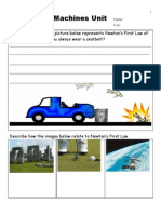 Motion and Machines Unit Assessment / Homework - Download unit at www. science powerpoint .com