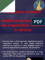 2. Fiziologia materna