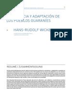 RESISTENCIA y ADAPTACION DE LOS PUEBLOS GUARANÍES