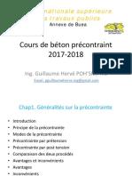 cours béton précontraint Buea 2018