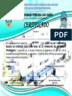 CERTIFICADO QUEHACER ENFERMERO 2019 II ULTIMO